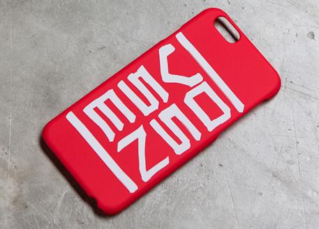 Vossen pouzdro na iPhone 6/6S červené s nápisem Vossen soft touch