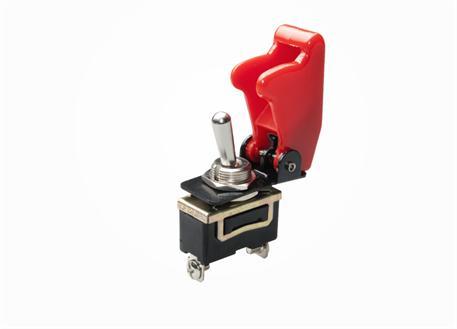Vypínač 12V 35A včetně červené krytky