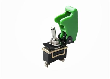 Vypínač 12V 35A včetně zelené krytky