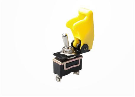 Vypínač 12V 35A včetně žluté krytky
