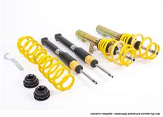 Výškově a tuhostně stavitelný podvozek ST suspensions pro VW Jetta V; (1KM) uchycení př. tlumiče 55mm, zatížení PN -1035kg