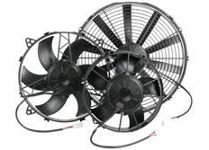 Ventilátor Spal 12V, montážní průměr 247mm, výkon 1060m3/hod, montáž za chladič