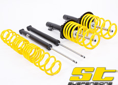 Kompletní sportovní podvozek ST suspensions pro Seat Leon (1M) s náhonem všech kol 1.8T, 1.9TDi, snížení 20/15mm