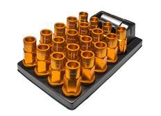 Work Wheels sada odlehčených kolových matic RS-R M12x1,25, oranžové