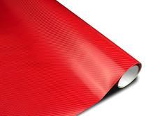 Wrapová fólie s 3D efektem  - červený karbon v provedení 4D
