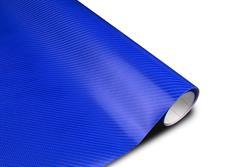 Wrapová fólie s 3D efektem  - modrý karbon v provedení 4D
