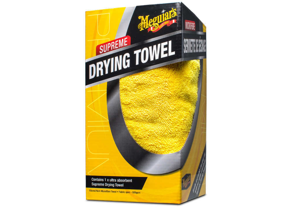 Meguiar's Supreme Drying Towel - extra hustý a savý sušicí ručník z mikrovlákna, 76 x 55 cm, 920 g/m2