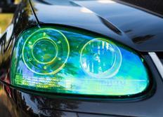 Transparentní fólie na světla chameleon zelená