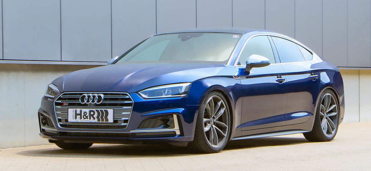 Audi S5 B8/B9 na stavitelném pružinovém kitu H&R