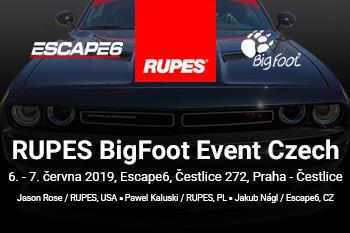 RUPES BigFoot Event Czech - exkluzivní detailingové školení pod vedením školitele RUPES, Jasona Rose (USA)!
