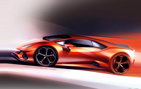 kresba Lamborghini Huracan - zdroj Lamborhini.com