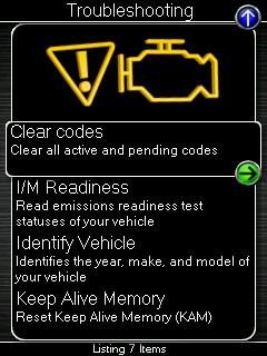 COBB Accessport V3 kódové čtení