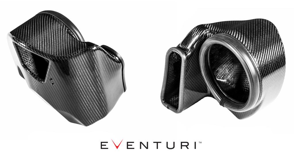 Tvar sací komory karbonového sání Eventuri pro Audi S4 S5 typ B9