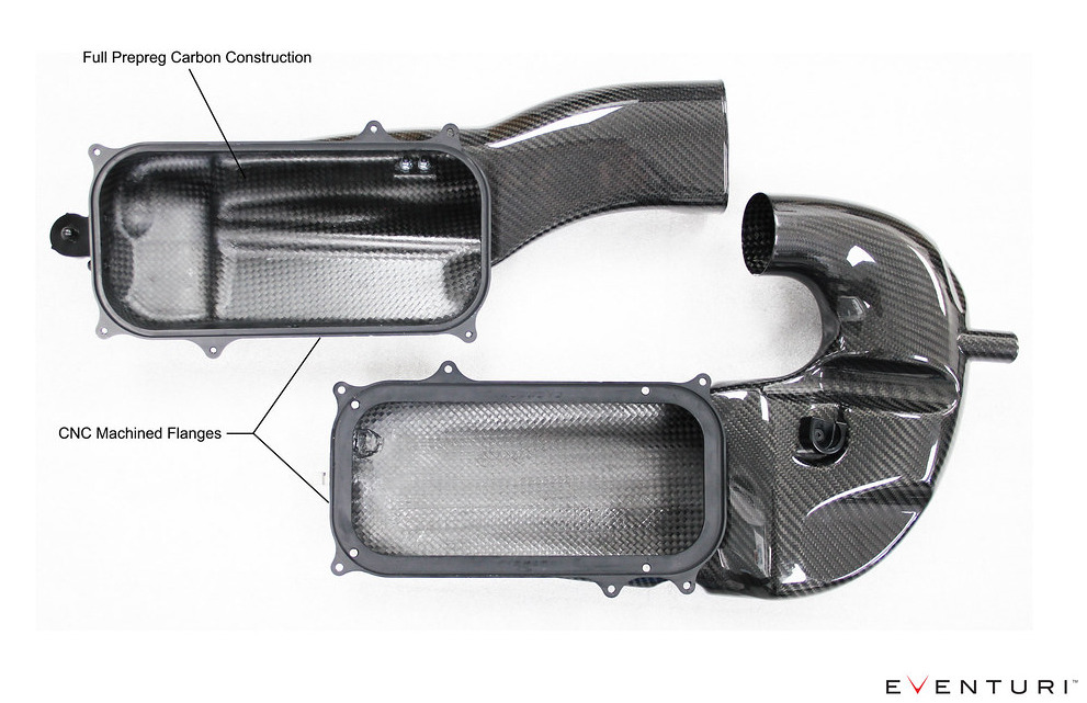 Konstrukce airboxů Eventuri pro Mercedes-Benz C63S AMG