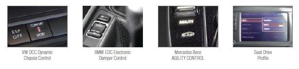 Varianty OEM ovládání podvozku KW DDC
