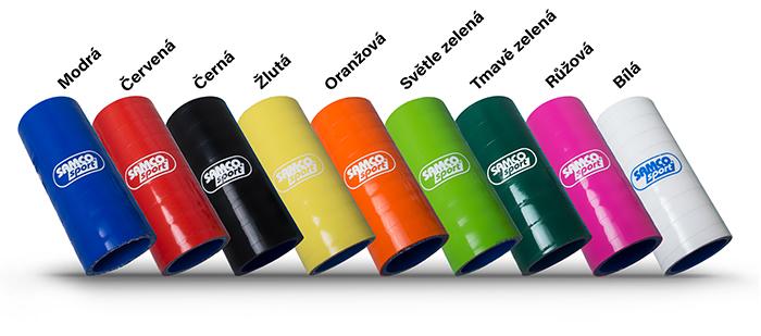 Dostupné barevné varianty podtlakových silikonových hadic Samco Sport