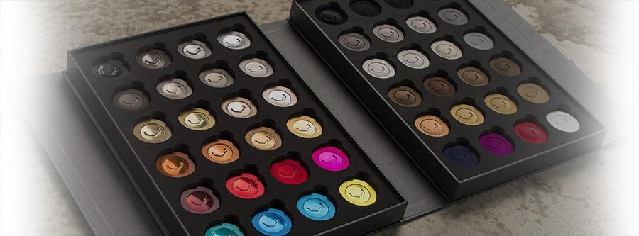 Paleta barevných povrchových úprav kovaných kol Vossen Forged