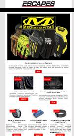 Nové modely rukavic Mechanix v Escape6
