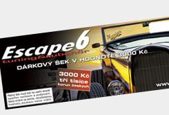 Dárkové poukazy na nákup v Escape6!