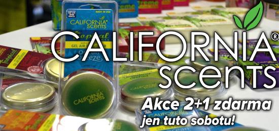 Další skvělá sobotní akce je tu! California Scents 2+1 zdarma + sleva 10% na ostatní sortiment!