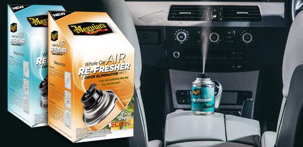 Desinfekce klimatizace, pohlcovač zápachu a osvěžovač vzduchu v jednom? Ano, Meguiar's Air Re-Fresher!