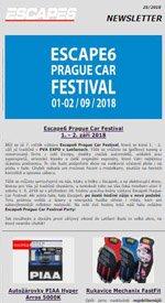 Escape6 Prague Car Festival 2018 se blíží!