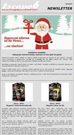 DOPRAVA ZDARMA! Nakupujte vánoční dárky, dopravu za Vás platí Escape6!