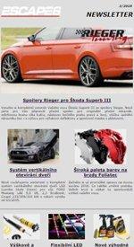 Spoilery Rieger pro Škoda Superb III v Escape6