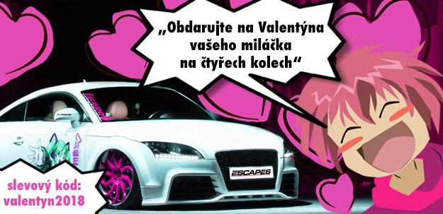 Nezapomeňte na Valentýna na Vašeho miláčka na čtyřech kolech!