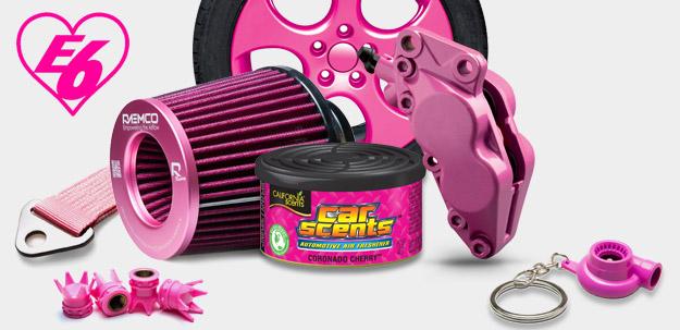 Valentýnská kolekce růžových autodoplňků jen v Escape6!